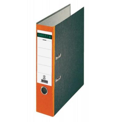 22012 Ordner A4 Wolkenmarmor Rücken orange 80mm breit