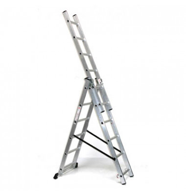 Alu Schiebeleiter 760 mit 3 x 6 Stufen