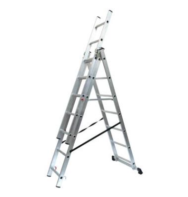 Alu Schiebeleiter mit 3 x 7 Stufen