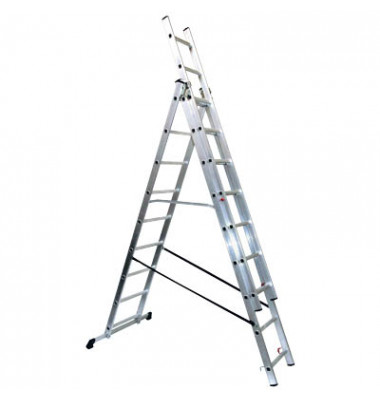 Alu Schiebeleiter mit 3 x 9 Stufen