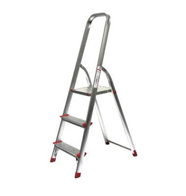 Alu Leiter 780 3 Stufen mit Plattform