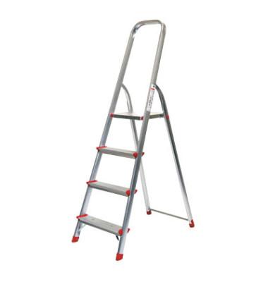 Alu Leiter 780 4 Stufen mit Plattform