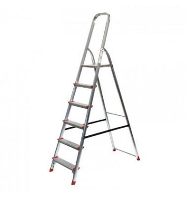 Alu Leiter 780 6 Stufen mit Plattform