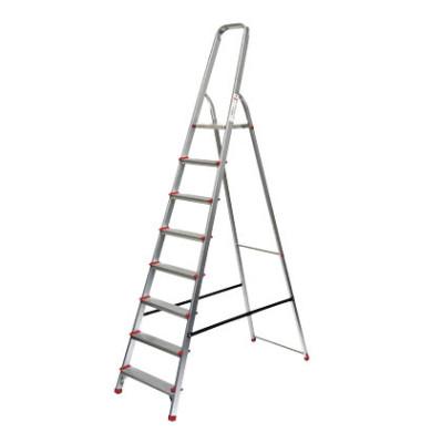 Alu Leiter 780 7 Stufen mit Plattform