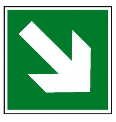 Fluchtwegschild Rettungswege ab- bzw. aufwärts langnachleuchtend grün gem. neuer ASR A1.3