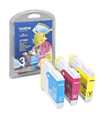 Druckerpatrone LC-1000 cyan / magenta / gelb 4x ca 400 Seiten Multipack