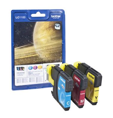 Druckerpatrone LC-1100 cyan / magenta / gelb 4x ca 325 Seiten Multipack