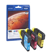 Druckerpatrone LC-1100HY cyan / magenta / gelb 4x ca 750 Seiten Multipack