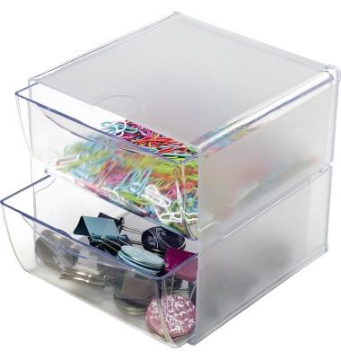 Organiser-System CUBE glasklar 2 Schubladen