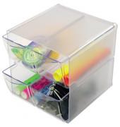 Organiser-System CUBE     /DE350301 glasklar 4 Schubladen