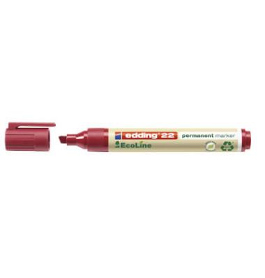 Permanentmarker 22 EcoLine rot 1-5mm Keilspitze 10 Stück