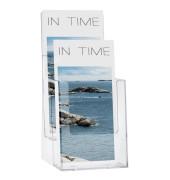 Prospekthalter transparent Format 1/3 A4 1 Pack   2 Stück