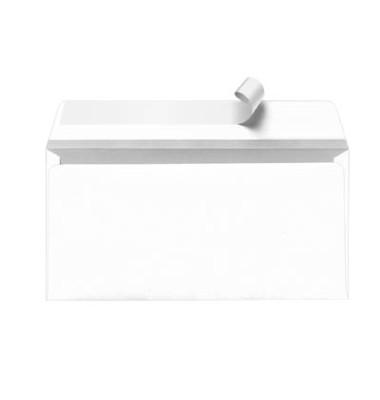 Briefumschläge Din Lang ohne Fenster haftklebend 80g weiß 500 Stück