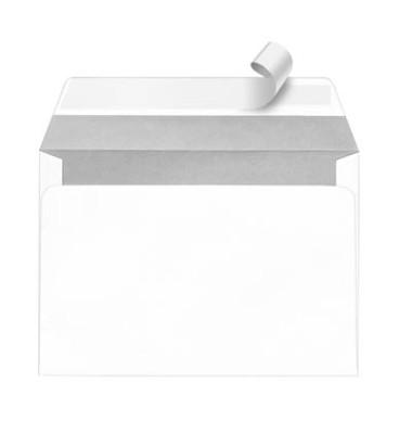 Versandtaschen C5 ohne Fenster haftklebend 90g weiß 500 Stück Öffnung an der langen Seite