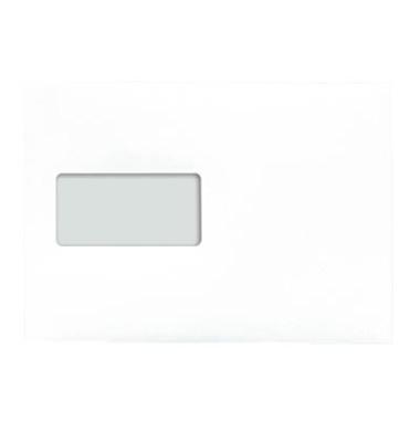 Versandtaschen C5 mit Fenster haftklebend 90g weiß 500 Stück Öffnung an der langen Seite