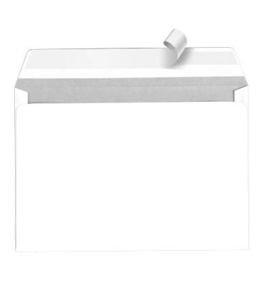 Briefumschläge C6 ohne Fenster haftklebend 80g weiß 500 Stück