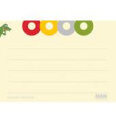 Karteikarten Croco A8 liniert 120g gelb 100 Stück