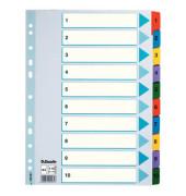 Kartonregister 100161 1-10 A4 160g farbige Taben 10-teilig