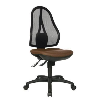 Bürodrehstuhl Open Point SY ohne Armlehnen dunkelbraun