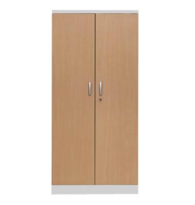 Aktenschrank 100107, Holz/Stahl abschließbar, 5 OH, 92 x 195 x 42 cm, buche/lichtgrau