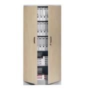 Aktenschrank 100112, Holz/Stahl abschließbar, 5 OH, 92 x 195 x 42 cm, ahorn/lichtgrau