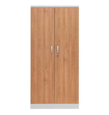 Aktenschrank 100109, Holz/Stahl abschließbar, 5 OH, 92 x 195 x 42 cm, erle/lichtgrau