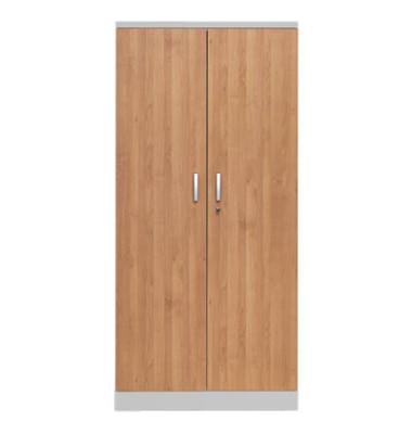 Aktenschrank 100121, Holz/Stahl abschließbar, 5 OH, 92 x 195 x 42 cm, erle/alu