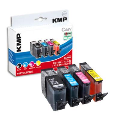Tinten schwarz, cyan, magenta, gelb ersetzt Canon PGI-5 BK, CLI-8 C/M/Y