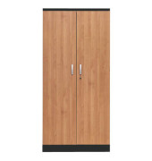 Aktenschrank 100127, Holz/Stahl abschließbar, 5 OH, 92 x 195 x 42 cm, erle/schwarz