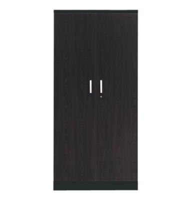 Aktenschrank 100126, Holz/Stahl abschließbar, 5 OH, 92 x 195 x 42 cm, wenge/schwarz