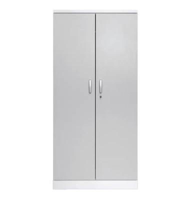 Aktenschrank 100117, Holz/Stahl abschließbar, 5 OH, 92 x 195 x 42 cm, lichtgrau/weiß