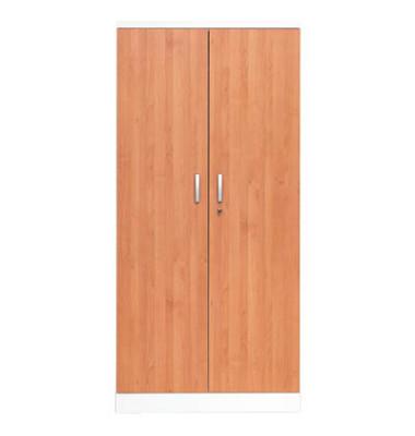 Aktenschrank 100115, Holz/Stahl abschließbar, 5 OH, 92 x 195 x 42 cm, erle/weiß