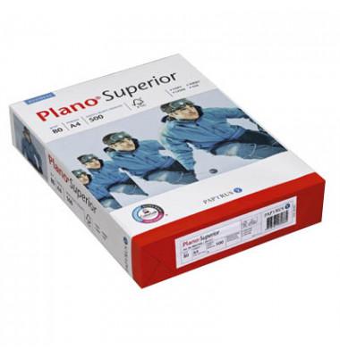 Superior 4-fach gelocht A4 80g Kopierpapier weiß 500 Blatt