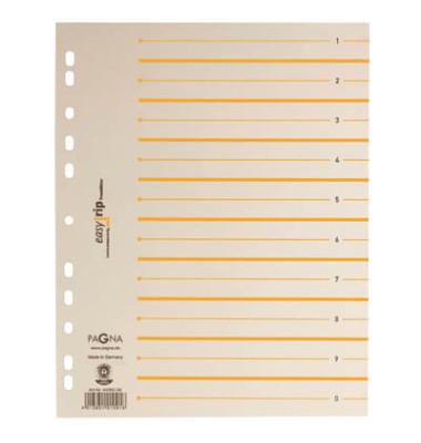 Trennblätter EasyRip A4 chamois/orange perforiert 225g 100 Blatt