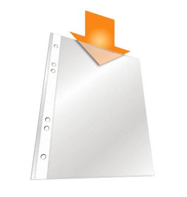 Prospekthüllen 2650 A5 transparent genarbt 60my oben offen 100 Stück