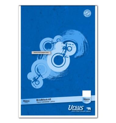 Briefblock Basic A5 weiß blanko 50 Blatt