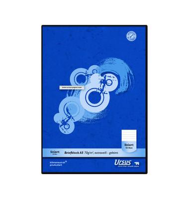 Briefblock Basic A5 weiß liniert 10 mm 50 Blatt