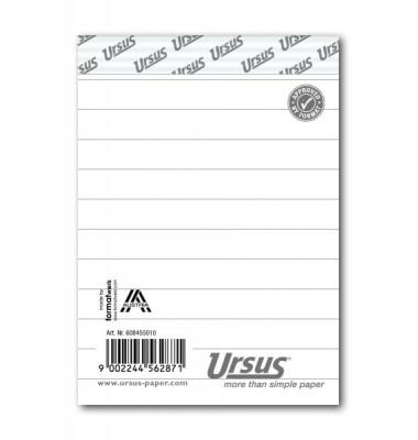 Notizblock Basic A7 weiß liniert 48 Blatt