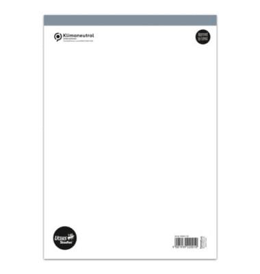 Notizblock Basic A4 weiß blanko 48 Blatt