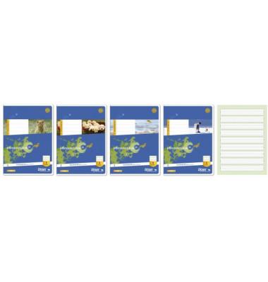 Schulheft Basic 1. Schuljahr A5 Lineatur 1 liniert weiß 16 Blatt