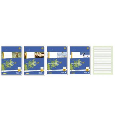 Schulheft Basic 2.Schuljahr A5 Lineatur 2 liniert weiß 16 Blatt
