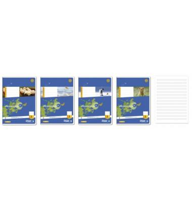 Schulheft Basic 3.Schuljahr A5 Lineatur 3 liniert weiß 16 Blatt