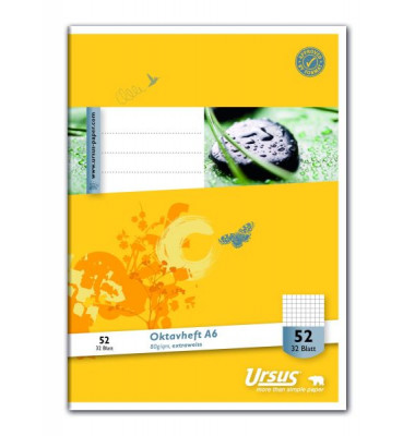 Oktavheft Basic A6 kariert LIN52 32 Blatt