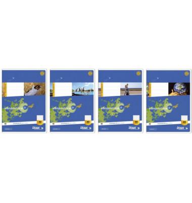 Schulheft Basic A4 Lineatur 40 kariert mit Rahmen weiß 16 Blatt