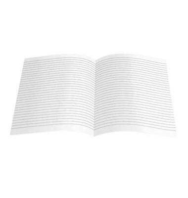 Kanzleipapier A3 auf A4 gefalzt liniert ohne Rand weiß 250 Blatt
