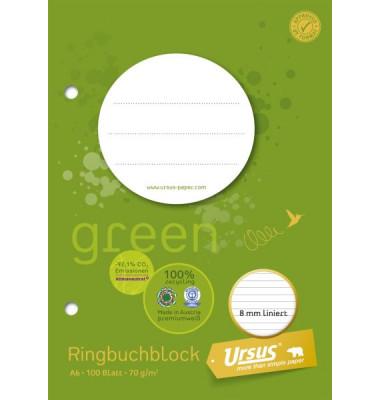 Ringbuchblock A6 ECF 70g 8,5mm lin 100Bl