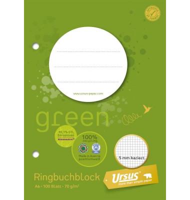 Ringbuchblock A6 70g 5mm kariert 100 Blatt
