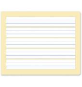 Schreibheft S.1 E5 quer liniert mit Rand weiß 20 Blatt