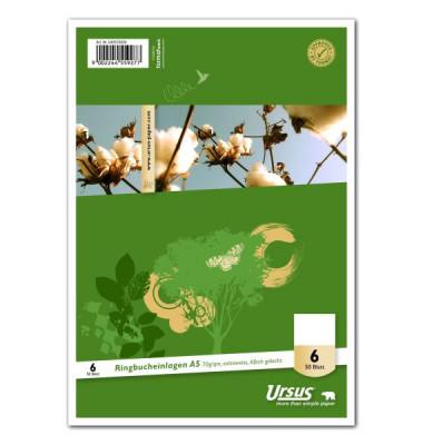 Ringbucheinlagen Style 040570000 blanko A5 6-fach gelocht 70g 50 Blatt
