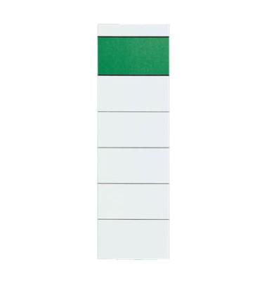 Rückenschilder 60 x 192 mm weiß grüner Balken 10 Stück